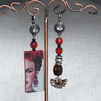 Boucles d'oreilles longues Frida Kahlo