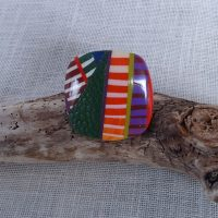 Bague multicolore boho chic