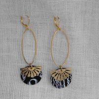 Boucles d'oreilles métal doré